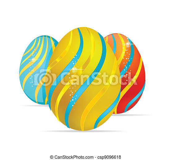 abstract and elegance easter egg symbols - csp9096618