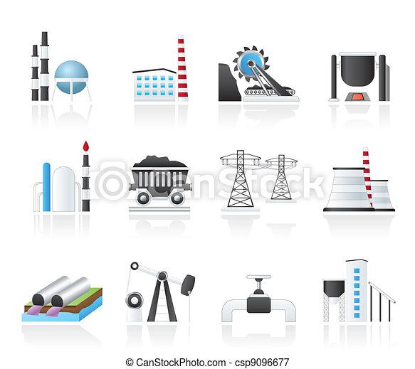 Heavy industry icons - csp9096677