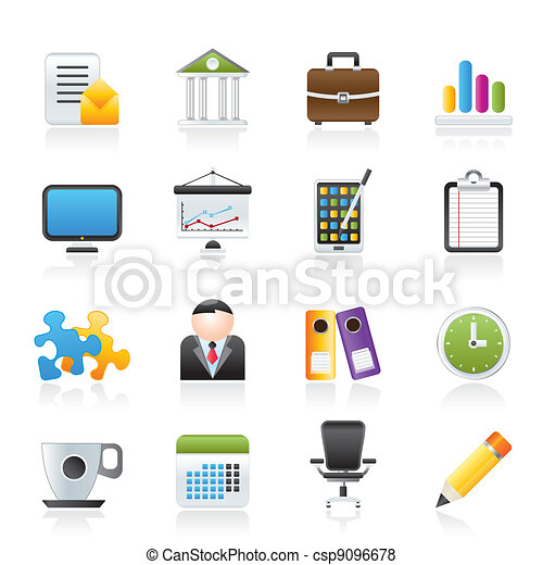 Business and office icons - csp9096678