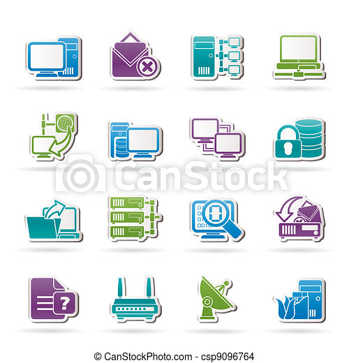 Computer Network and internet icons - csp9096764