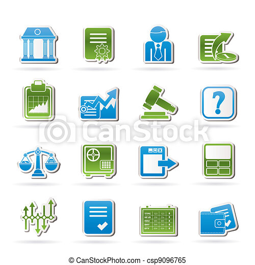 Stock exchange and finance icons - csp9096765