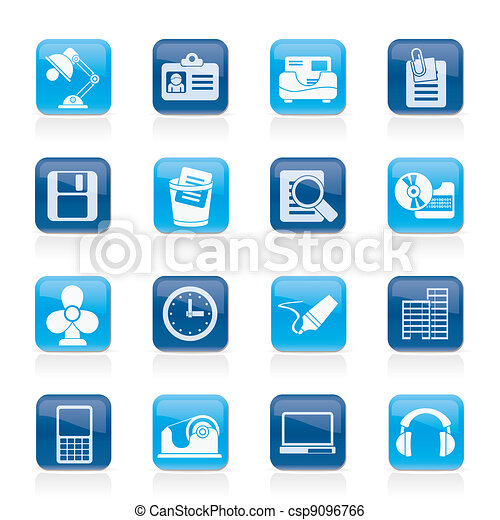 Office and business icons - csp9096766