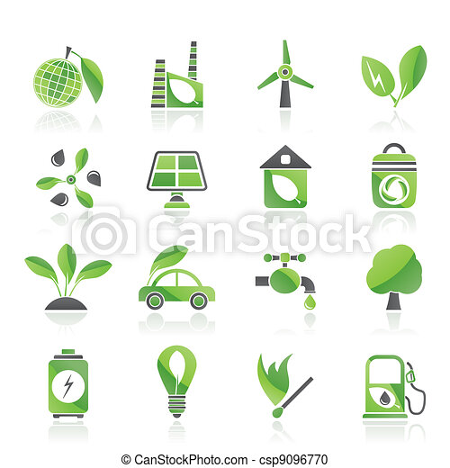 Green, Environment and ecology Icon - csp9096770