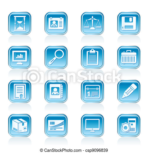 Business and office Icons - csp9096839