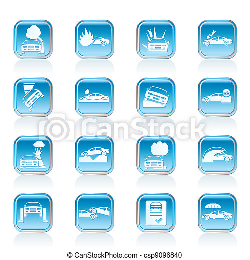 car insurance icons - csp9096840