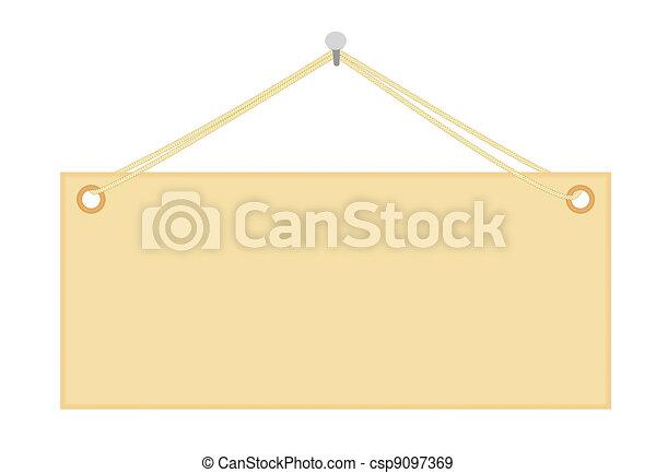 blank notice board - csp9097369