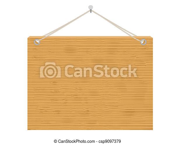 wooden notice board - csp9097379