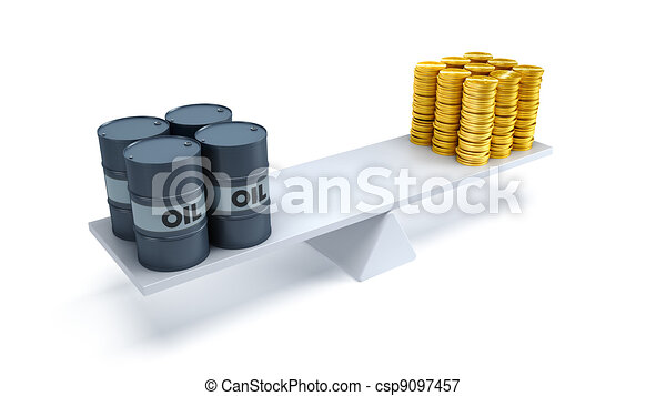 oil trading concept - csp9097457