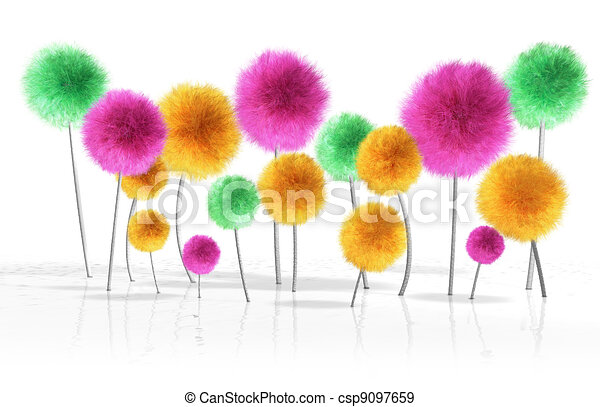 Fantasy Dandelion Trees - csp9097659