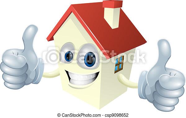 Cartoon House Mascot - csp9098652