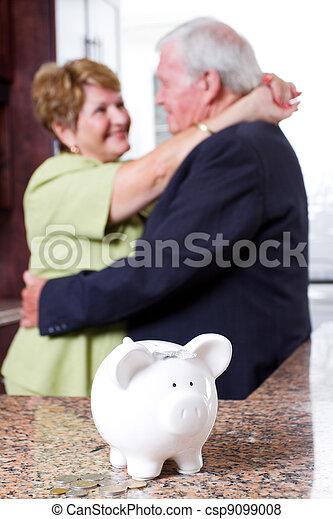 retirement investment for senior couple - csp9099008