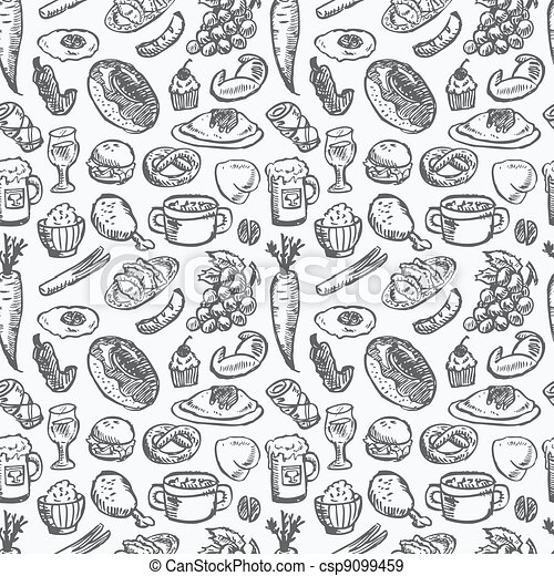 seamless food pattern - csp9099459