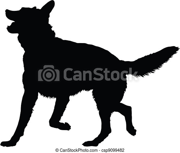 German Shepherd Silhouette - csp9099482