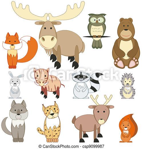 Forest animals set - C...