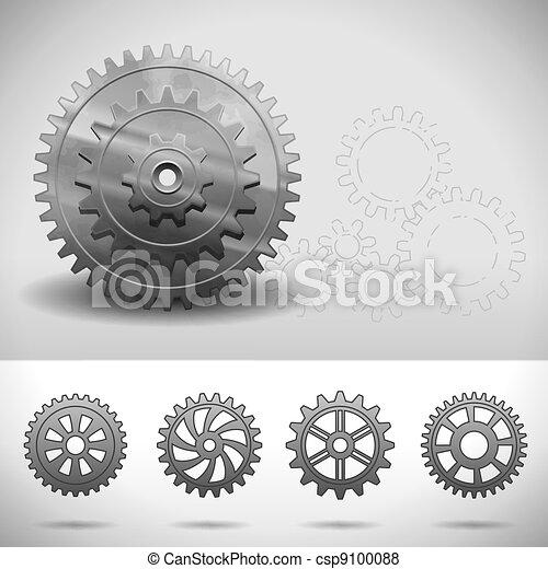Gear Wheels, Cogwheels - csp9100088