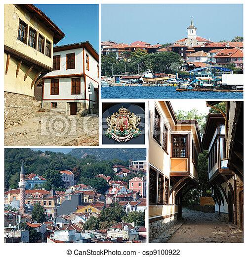 Collage of Bulgarian landmarks - csp9100922