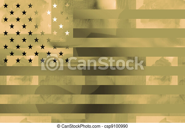 US flag military background  - csp9100990