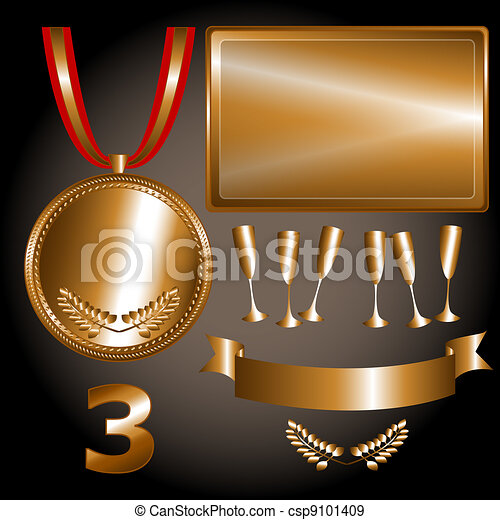 Bronze elements for games and sports - csp9101409