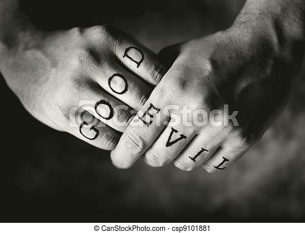 Good vs. Evil - csp9101881