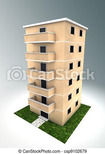 Condominium Stock Illustration Images. 2,240 Condominium ...