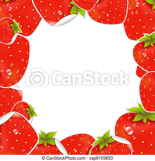 Label Strawberry Frame - csp9103653