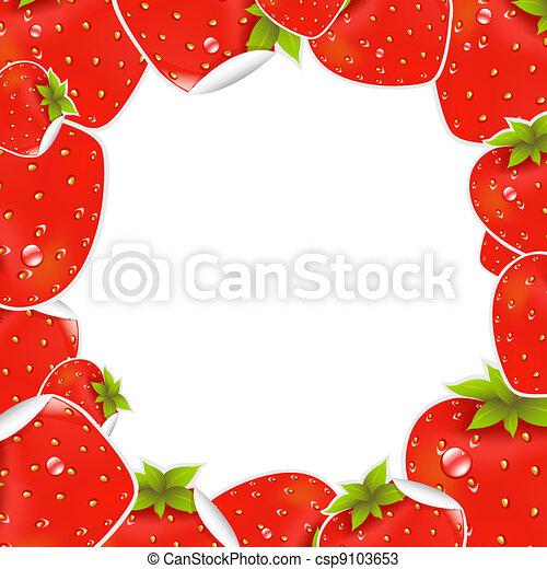 Label Strawberry Frame - csp9103653