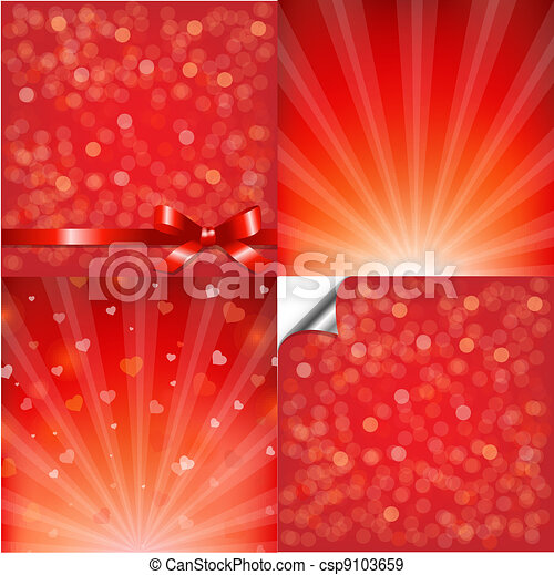 Red Backgrounds Set With Bokeh - csp9103659