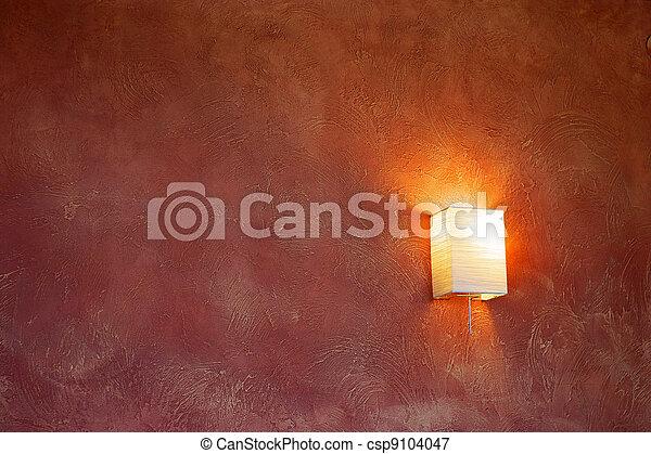 Bilder von lampe auf a rotwein wand elektrisch - Rotwein an der wand ...