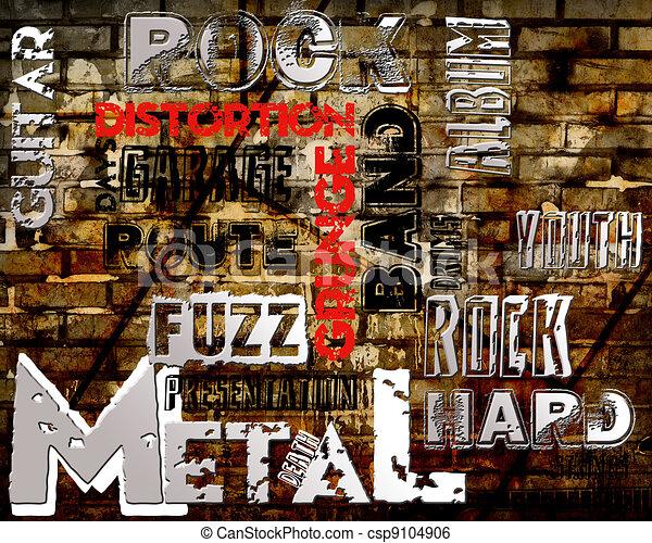Rock Music poster - csp9104906