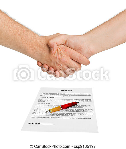 Handshake and contract - csp9105197
