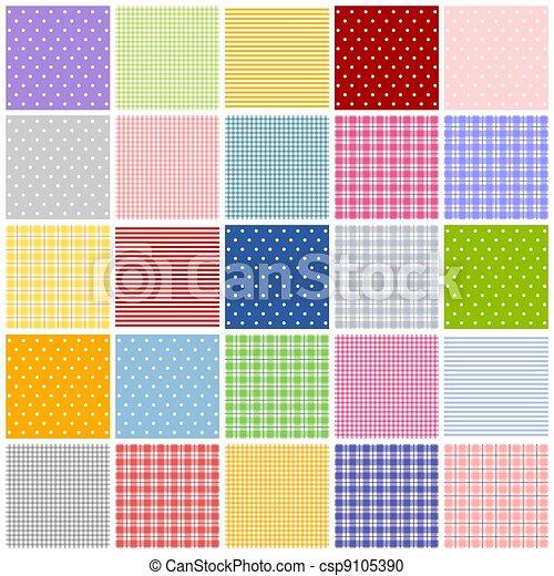 Banco de ilustração - patchwork, patern - estoque de ilustração