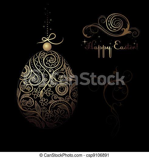 Páscoa, decorativo, ovo - csp9106891