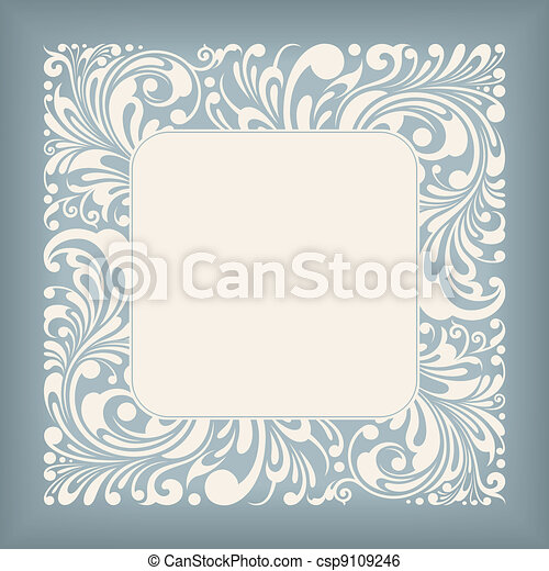 Ornament Square Label - csp9109246