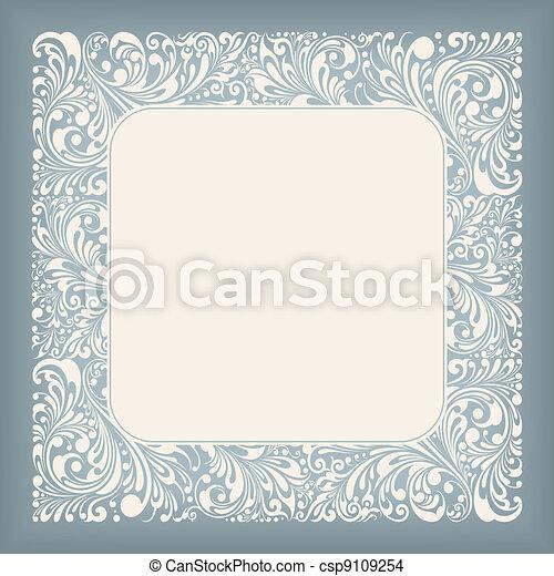 Ornament Square Label - csp9109254