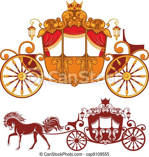 Royal carriage - csp9109555