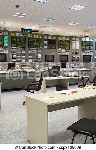 Control room of a russian nuclear power generation plant - csp9109609