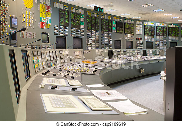 Control room of a russian nuclear power generation plant - csp9109619