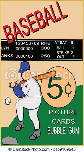 retro baseball card  - csp9109645