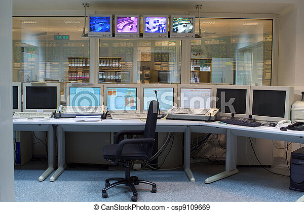 Control room of a russian nuclear power generation plant - csp9109669