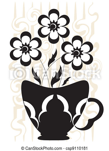 Decor with flowers - csp9110181