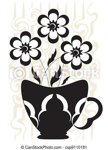 Decor with flowers - csp9110181