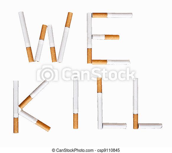 Stop smoking conceptual image - csp9110845