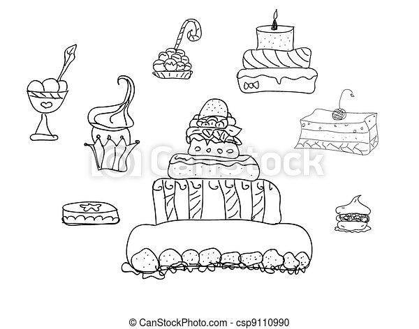 Holiday Sweets vector - csp9110990