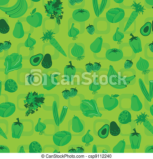 vegetable and fruit pattern - csp9112240