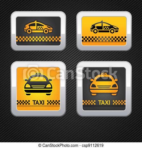 Taxi cab set buttons - csp9112619