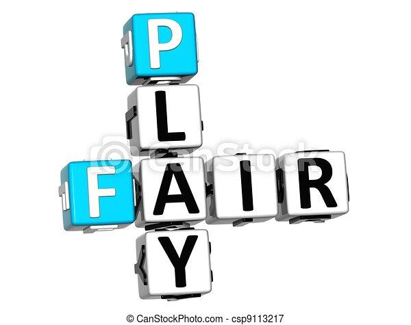 3D Fair Play Crossword text - csp9113217