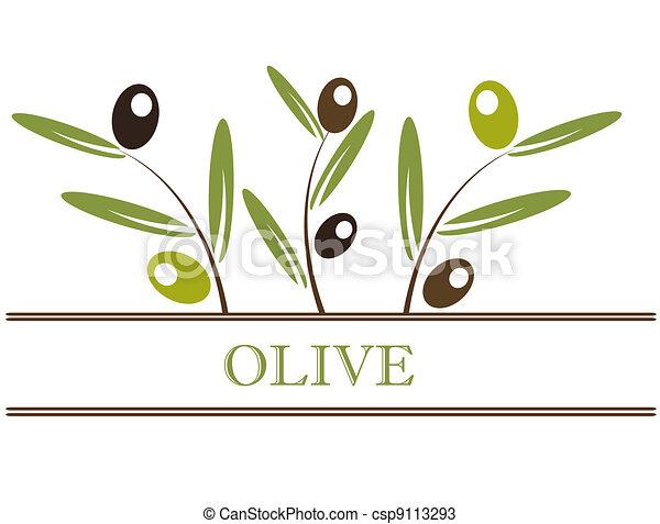Olives label - csp9113293