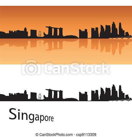 Singapore skyline - csp9113309