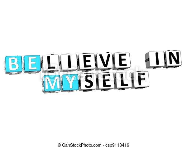 3D Believe in Myself text - csp9113416