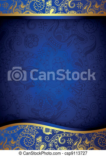 Abstract Blue Background - csp9113727